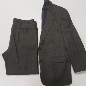 Brooks Brothers 42L Jacket 37 x 29 Pants Wool Suit